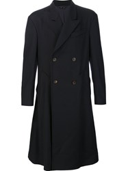 Vivienne Westwood Man Long Double Breasted Coat Blue