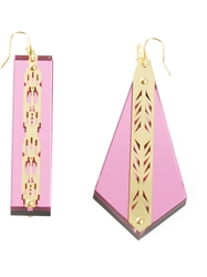Sarah Angold Studio 'Solissa' Earrings Pink And Purple