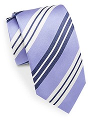 Bugatchi Striped Silk Tie Orchid