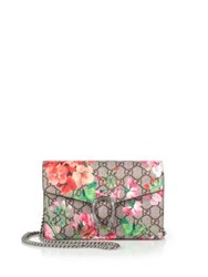 Gucci Dionysus Geranium Print Coated Canvas Chain Strap Wallet Multi