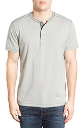 Men's Jeremiah 'Abel' Short Sleeve Slub Cotton Henley Limestone