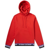 Opening Ceremony Tape Logo Hoody Red
