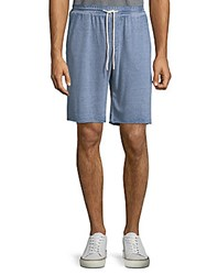 Threads For Thought Burnout Shorts Chambray Blue