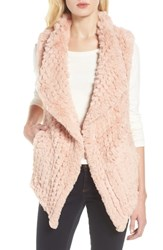 Love Token Faux Fur Vest Pink