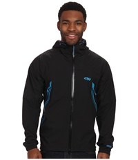 Outdoor Research Allout Hooded Jacket Black Hydro Men's Coat