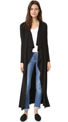 Zero Maria Cornejo Long Blanket Cardigan Black