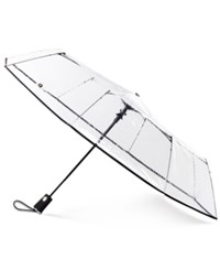 Totes 3 Section Auto Open Clear Umbrella