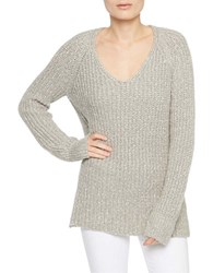 Sanctuary V Neck Knitted Pullover Silver White