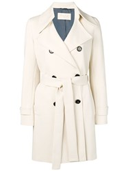 Circolo 1901 Double Breasted Trench Coat Neutrals