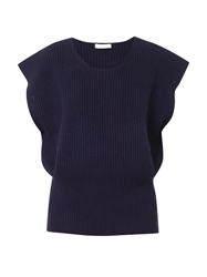 Chloe Ribbed Knit Crew Neck Sweater