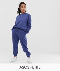 Asos Design Petite Tracksuit Ultimate Sweat Jogger With Tie Brown