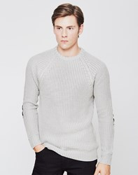 The Idle Man Fisherman Rib Knit Jumper Cream