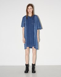 Sacai Denim Patchwork Dress Blue