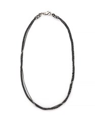 Emanuele Bicocchi Double Chain Sterling Silver Necklace Silver