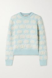 Lanvin Jacquard Knit Sweater Sky Blue