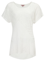 Phase Eight Lace Cutout Top White