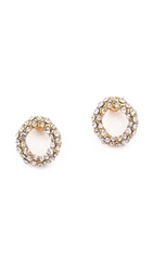 Alexis Bittar Chain Link Stud Post Earrings Gold Clear