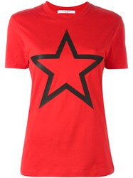 Givenchy Star Print T Shirt Red