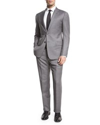 Armani Collezioni Striped Wool Two Piece Suit Gray