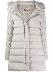 Herno Hooded Padded Coat Neutrals