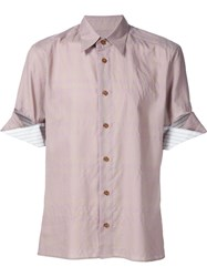 Vivienne Westwood Man Folded Cuff Shirt Nude And Neutrals