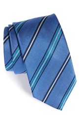 Men's Bugatchi Stripe Silk Tie Navy