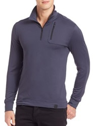 Victorinox Moraine Tech Quarter Zip Pullover Smokey Blue Black
