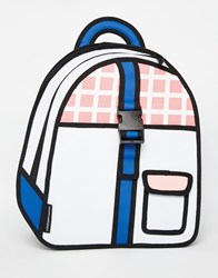 Jumpfrompaper Grid Buckle Backpack Pink