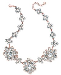 Charter Club Rose Gold Tone Crystal Cluster Statement Necklace Only At Macy's