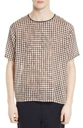 Acne Studios Men's Woven Plaid T Shirt