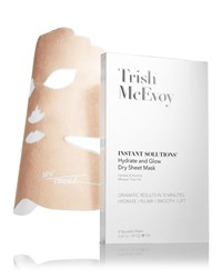 Trish Mcevoy Instant Solutions Hydrate And Glow Dry Sheet Mask 4 Pack