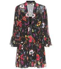 Mcq By Alexander Mcqueen Printed Floral Mini Dress Multicoloured