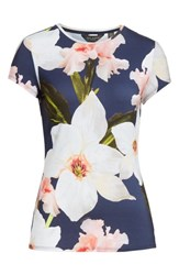 Ted Baker London Chatsworth Bloom Fitted Tee Navy