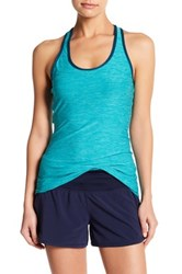 New Balance Perfect Cutout Racerback Tank Blue