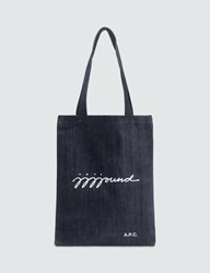 A.P.C. X Jjjjound Tote Bag Blue