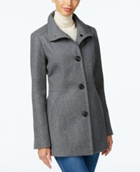 Inc International Concepts Stand Collar Peacoat Only At Macy's Light Charcoal