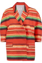 Stella Jean Striped Cotton Poplin Jacket Multi