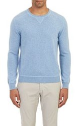 Z Zegna Stockinette Stitched Sweater Blue