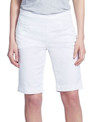 Jag Fitted Bermuda Shorts White