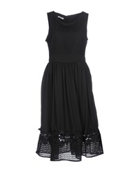 Brigitte Bardot Knee Length Dresses Black