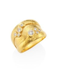 Gurhan Pointelle Diamond And 22 24K Yellow Gold Ring