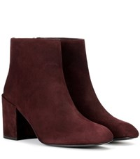 Stuart Weitzman Bacari Suede Ankle Boots Red