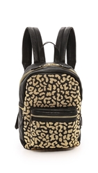 Ash Domino Stud Small Backpack Black Beaded Leopard Gold