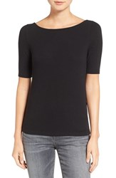 Madewell Women's Chorus Scoop Back Tee True Black