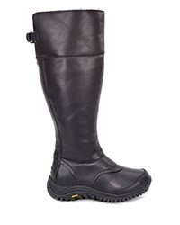 Ugg Miko Leather And Sheepskin Tall Boots Black