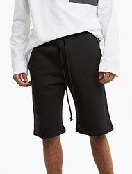 Raf Simons Black Drylands Cotton Jersey Shorts