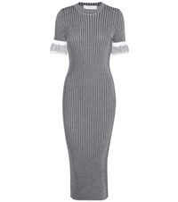 Victoria Beckham Rib Knitted Dress Black