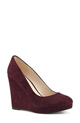 Nine West Women's 'Halenia' Platform Wedge Pump Wine Suede