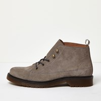 River Island Mens Grey Suede Ankle Boots