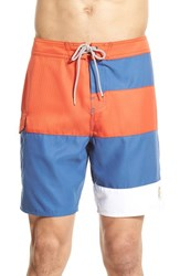 Men's O'neill 'Strand' Colorblock Board Shorts Red Copper